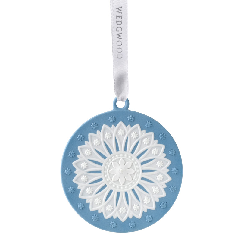 2017 Neoclassical Disk Christmas Ornament | Wedgwood Christmas Tree Decoration | Christmas Disk Design