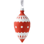 2017 Neoclassical Teardrop, red Porcelain Ornament