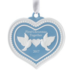 2017 Wedgwood Our First Christmas Porcelain Ornament
