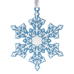 2017 Snowflake, Blue Porcelain Ornament