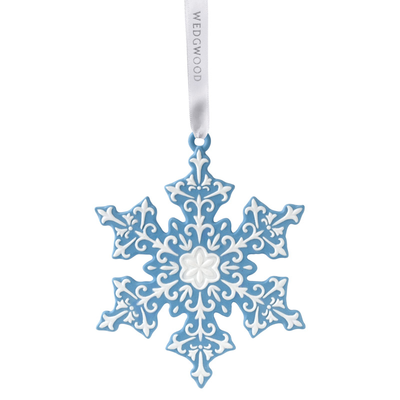 2017 Blue Snowflake Christmas Ornament | Wedgwood Christmas Tree Decoration | Snowflake Design