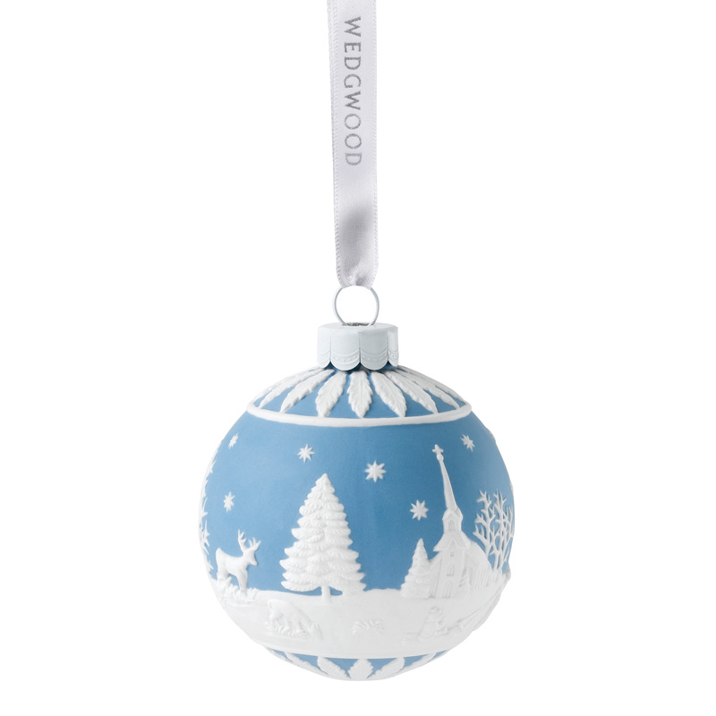 Winter Country Christmas Ornament 2017 | Wedgwood | Silver Superstore