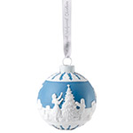 Wedgwood Dressing The Christmas Tree Ball 2018 Ornament | Wedgwood Christmas Ornament | Wedgwood Snowman Ornament