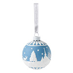 Wedgwood Winter Scene Ball Porcelain Christmas Ornament