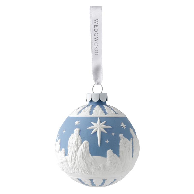 Wedgwood Christmas Ornaments 2019.Wedgwood Nativity Ball 2019porcelain Christmas Ornament By Wedgwood