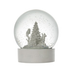 Wedgwood Snowglobe, Glass and Porcelain Christmas Decoration