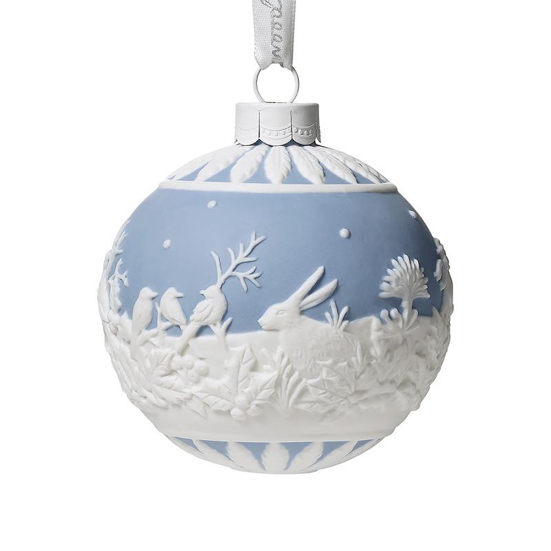 Wedgwood Christmas Ornaments.Wedgwood Winter Walk Ball 2019porcelain Christmas Ornament By Wedgwood