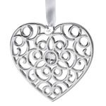Wedgwood Filigree heart Christmas Ornament