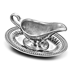 Wilton Armetale Gravy Boat with Tray