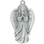 Woodbury Pewter Sculptured Angel Christmas Ornament