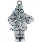 Woodbury Pewter Sculptured Santa Claus Christmas Ornament
