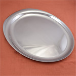 Tantalyn Stainless Steel Oval Tray by Yamazaki