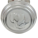 Elephant Silver Plated Dumbbell Rattle