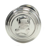 Elegance Silver Plated Dumbbell Rattle